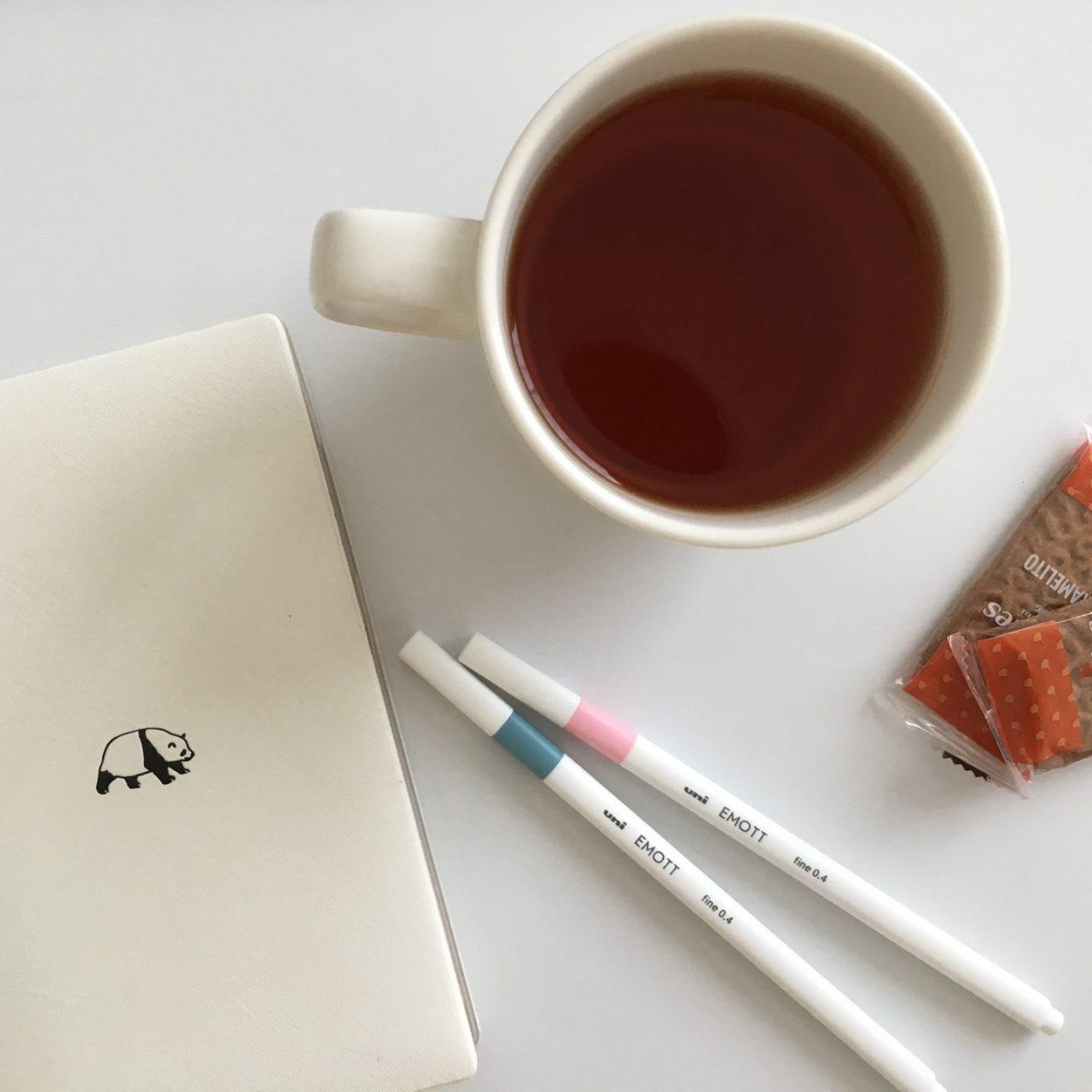紅茶と手帳