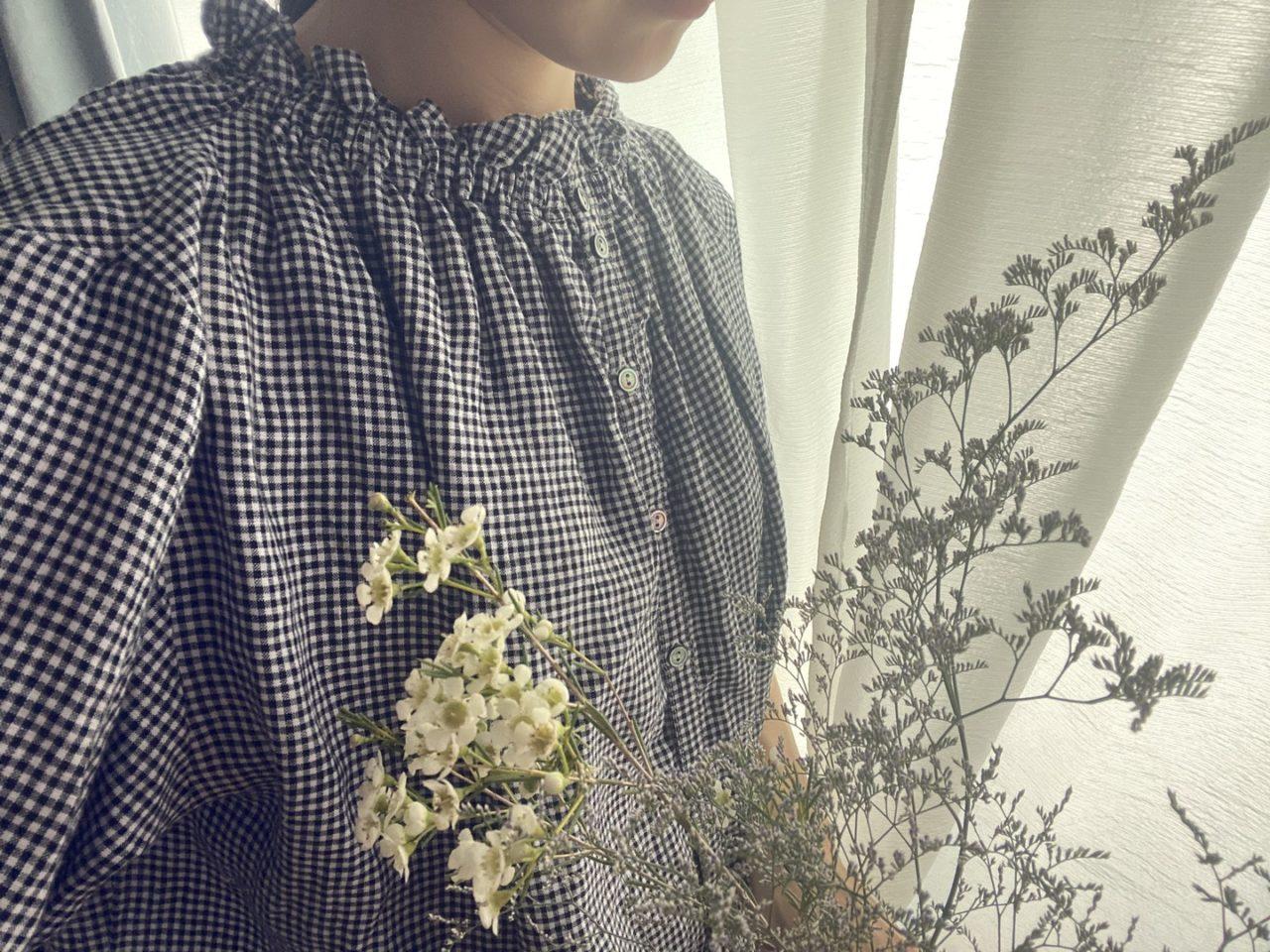 ブラウス_お花