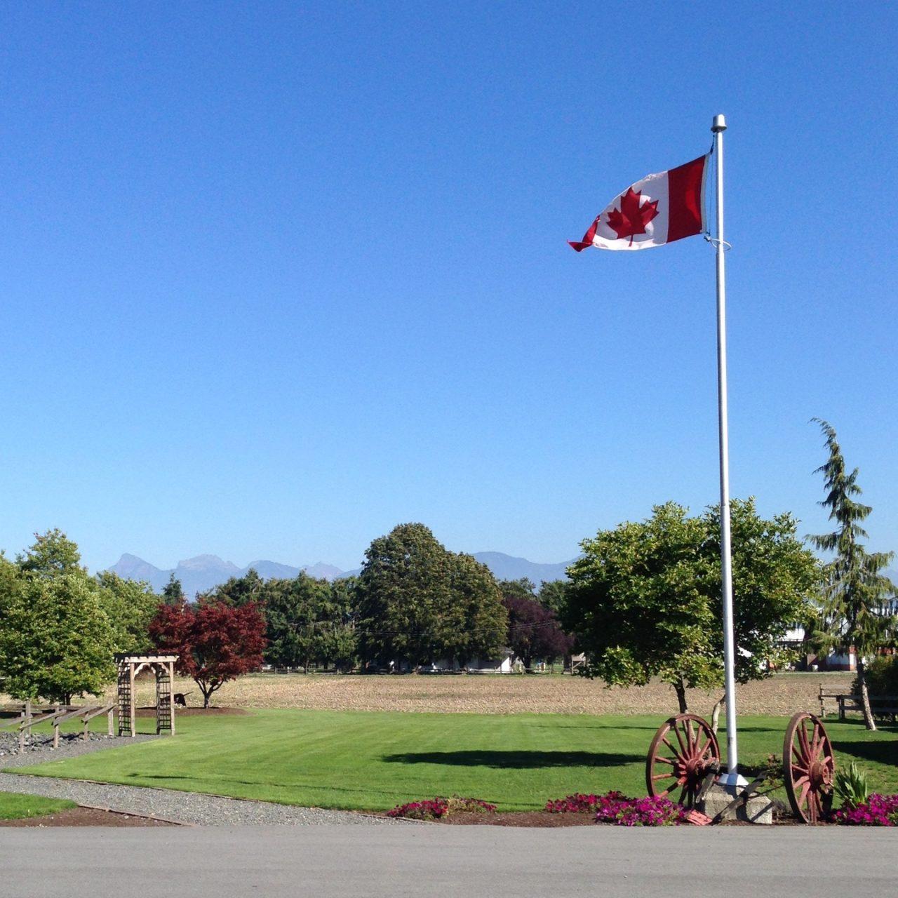 カナダの公園と空