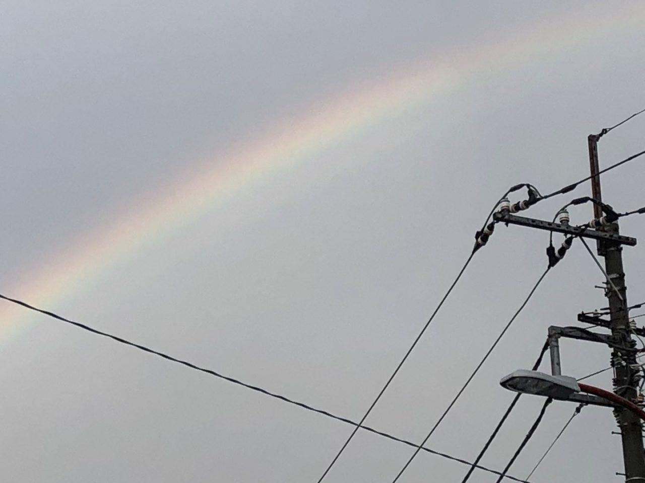 雨の合間に出た虹