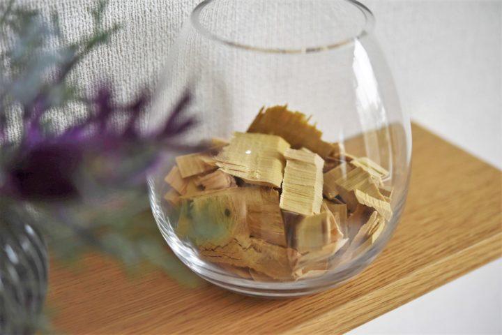 【おすすめ雑貨】ヒバチップのあるインテリア・青森ヒバの飾り方の画像