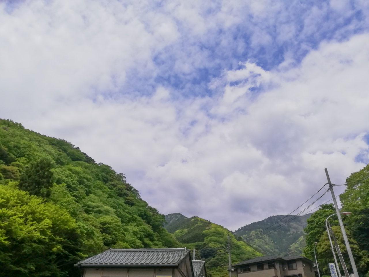 大山の最初にみた風景