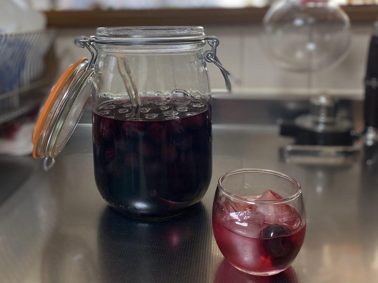 自家製ブルーベリー酒