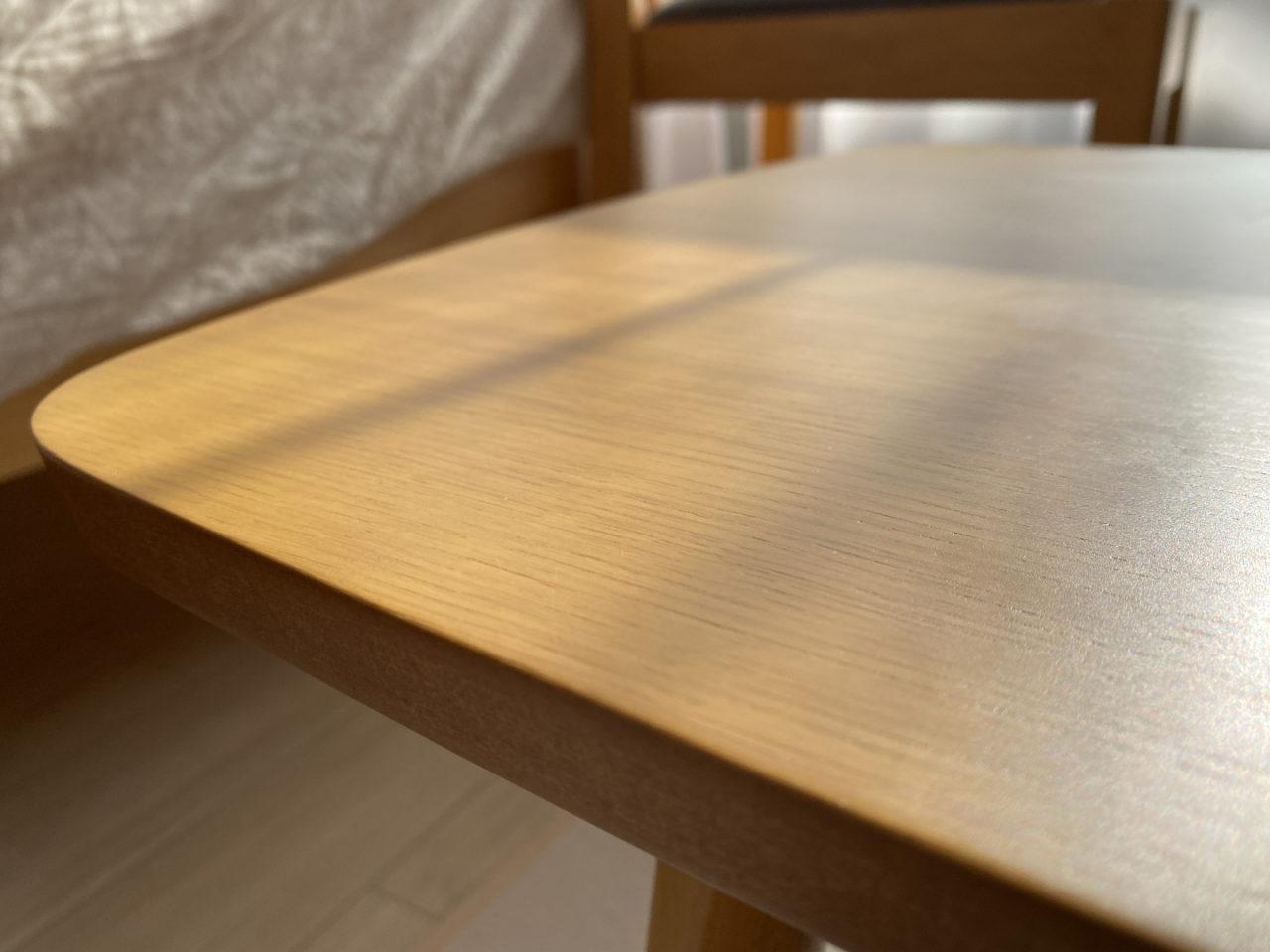 ローテーブルのようす。