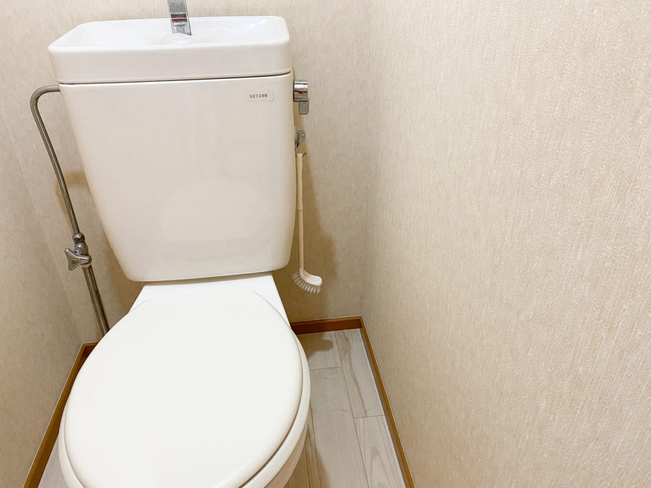 トイレブラシと吸盤フック
