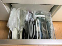 大皿は立てて収納している引き出し中身