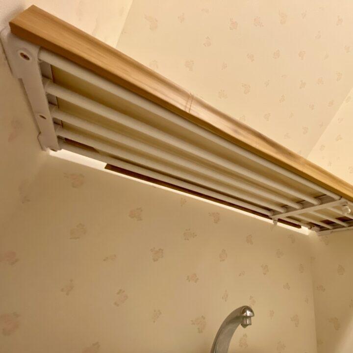 トイレ上の収納棚を下から見た図