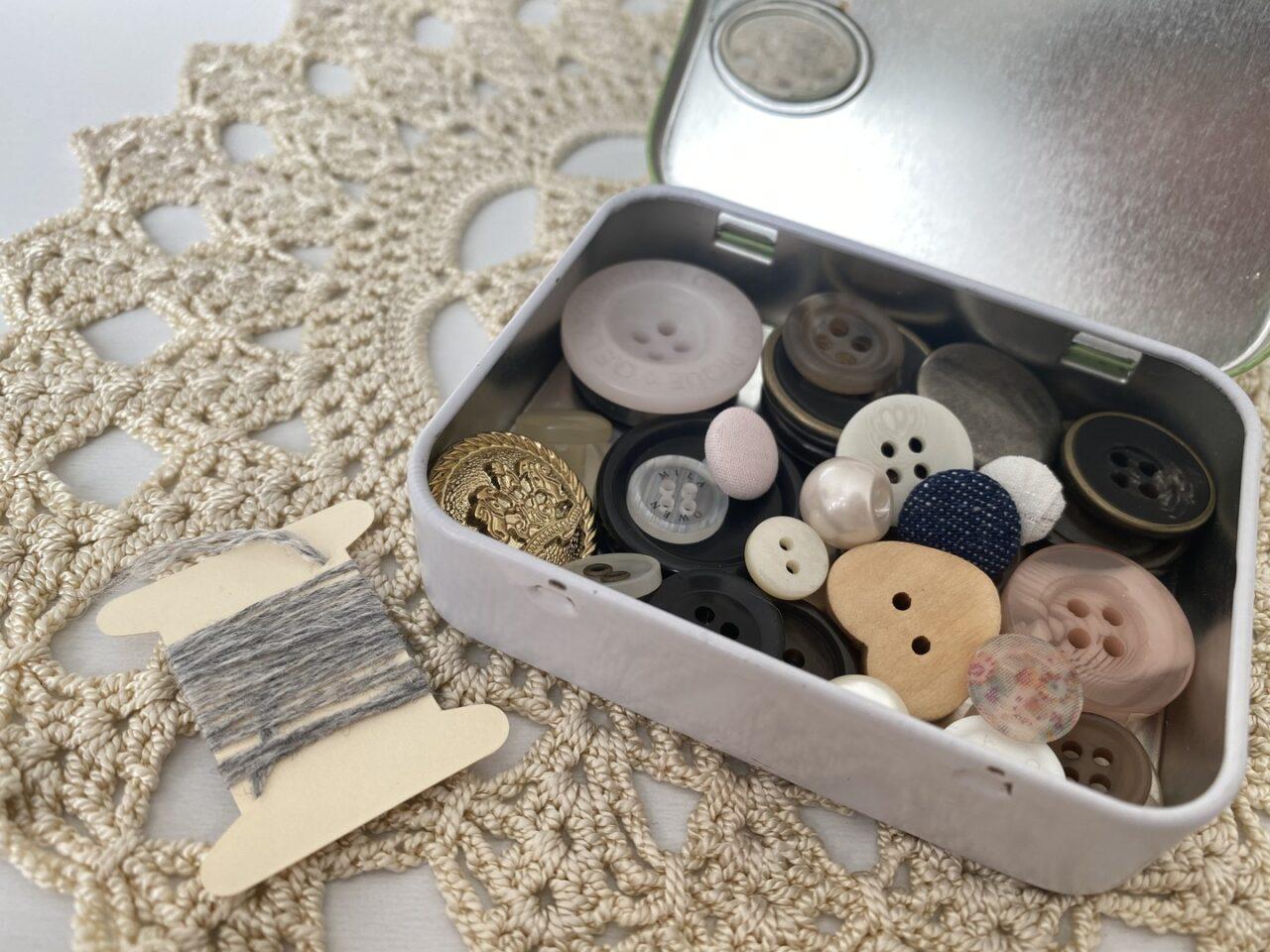 タブレット缶に予備のボタン