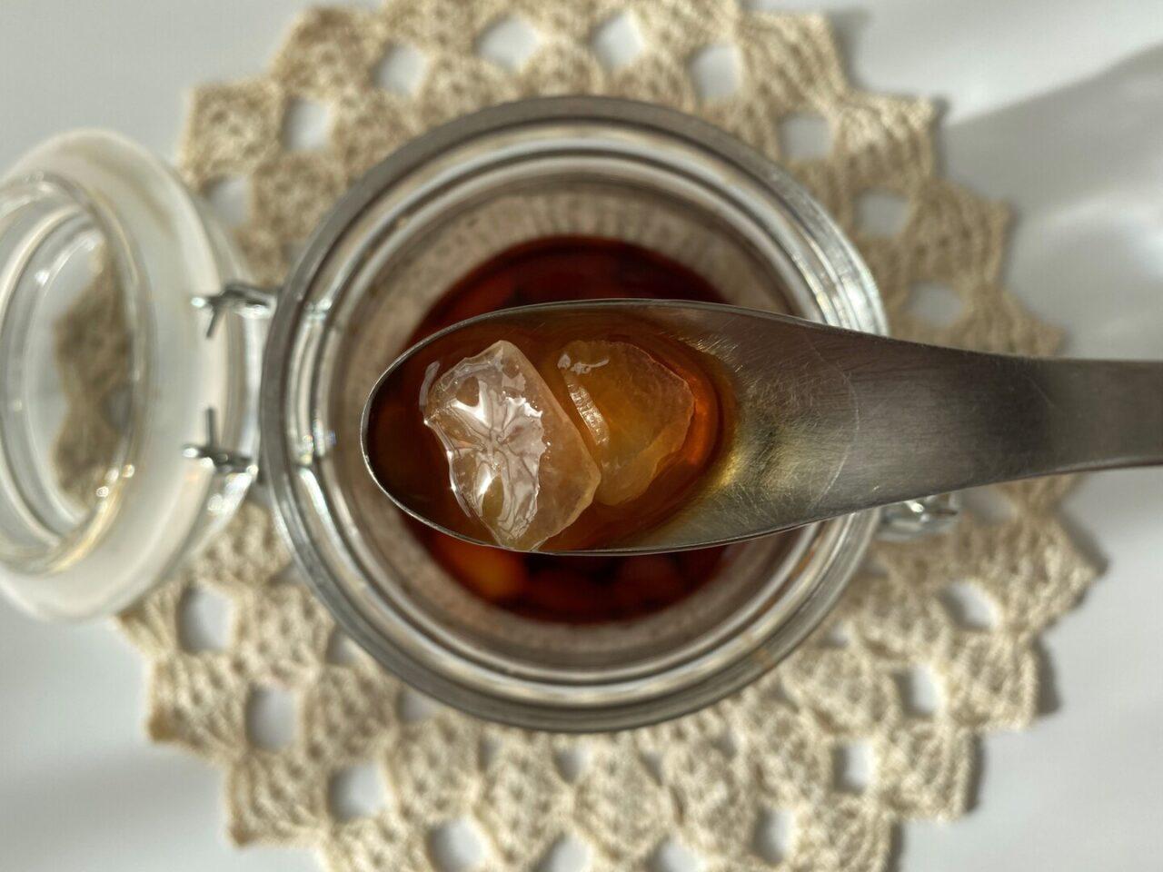 氷砂糖のシロップ漬け