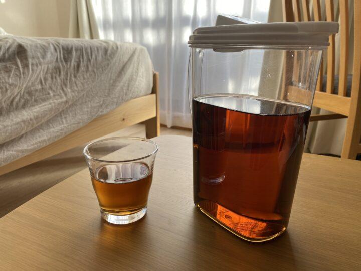 麦茶パックの収納は便利な容器で大量に、フレッシュに保存するの画像