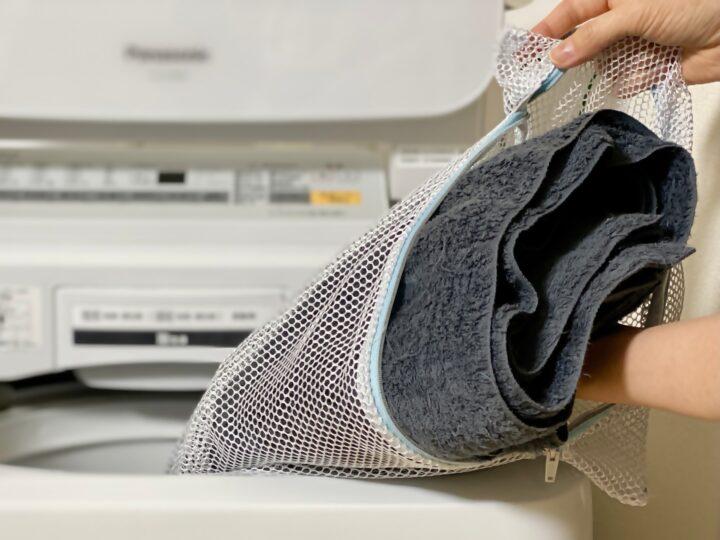 洗濯ネットとタオル