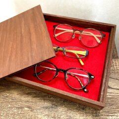 トレーやボックスを使ったメガネ収納方法