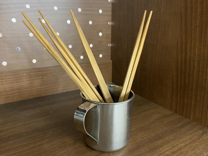 コップに箸を収納