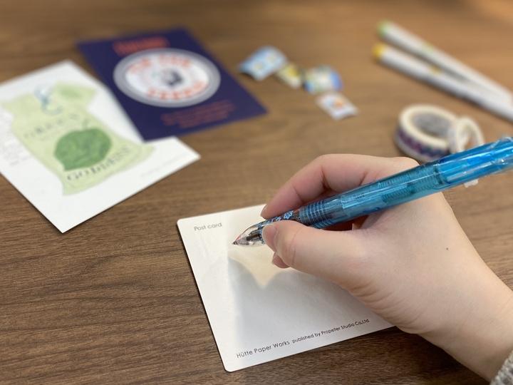 ポストカード 手紙を書く