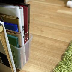 紙袋をファイルボックスに収納