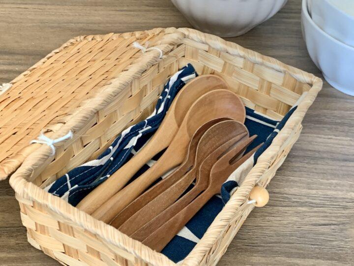 木製カトラリーの収納アイデア