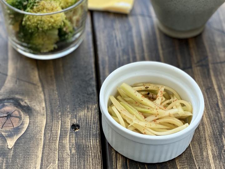 箸休めに、ブロッコリーの茎ナムル
