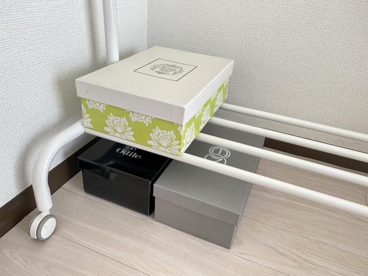 靴を部屋のデッドスペースに保管