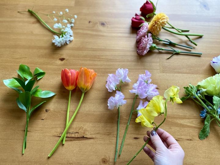 花 飾る 小分けにする