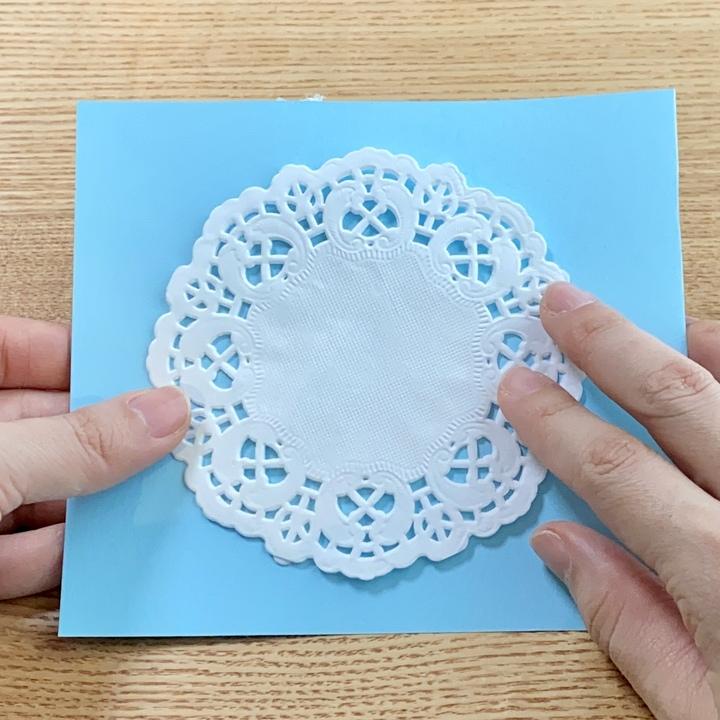 造花ミニブーケの手作りメッセージカードの手順1