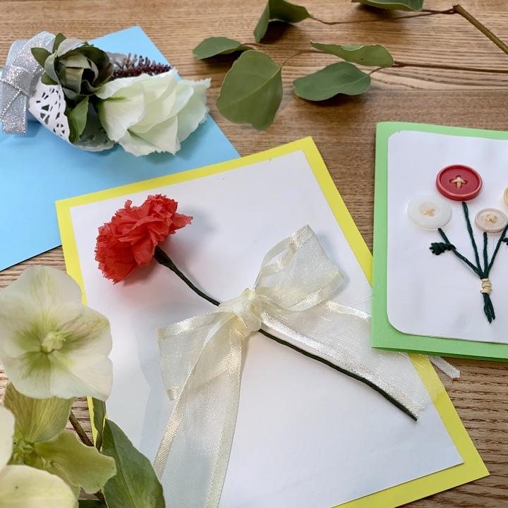 お花モチーフのメッセージカード3種類