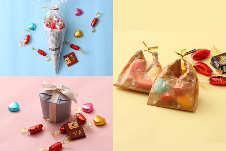 市販のお菓子を可愛く演出するラッピングの簡単アイデアの画像