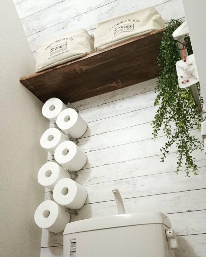 トイレットペーパー 見せる収納 ディッシュスタンド