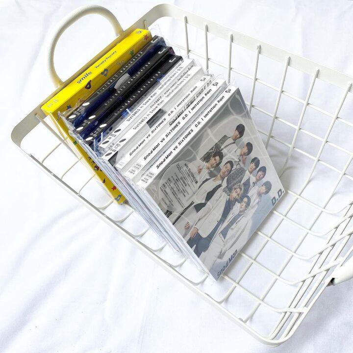 ジャニーズグッズ 見せる収納 CD ワイヤーバスケット