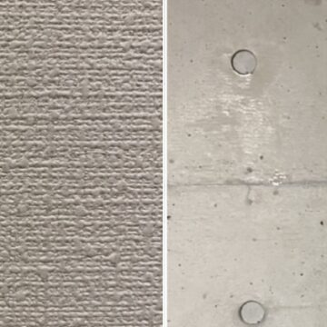 壁紙とコンクリートの比較
