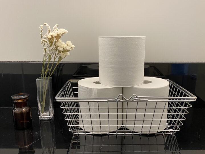 トイレットペーパー 見せる収納 ワイヤーバスケット