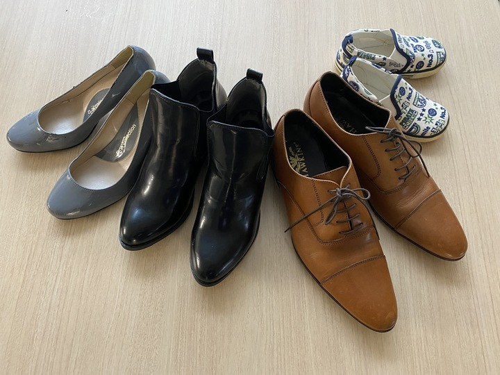 靴が並んでいる