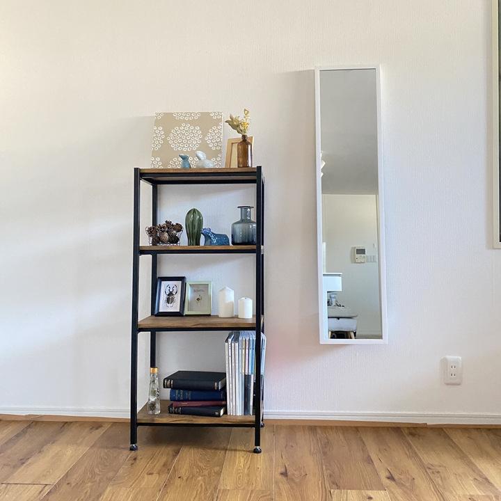 【動画付き】賃貸でも穴を開けない!全身鏡を壁に取り付ける方法の画像